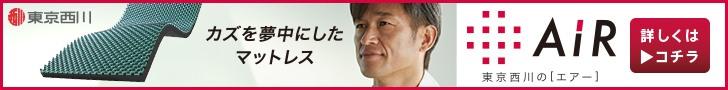 東京西川 カズを夢中にしたマットレス 728×90